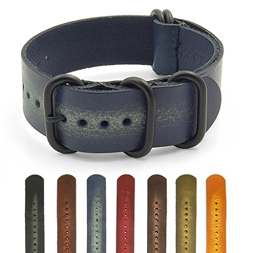 StrapsCo Distressed Vintage Style Leather