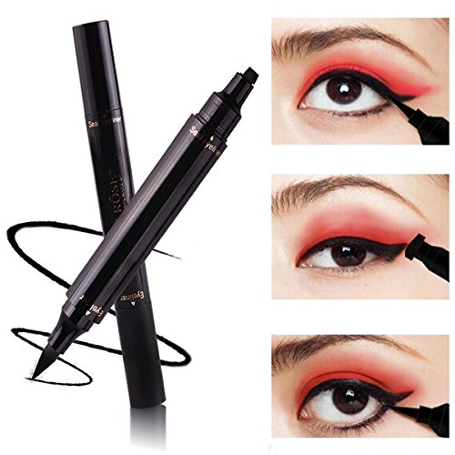 Turelifes Eyeliner Stamp Liquid Eye liner Pen , Waterproof, Smudgeproof, Long Lasting, Easy to Makeup Eyeliner and Cat Eyes, Vamp style Wing Eye - Cat Eye Perfect