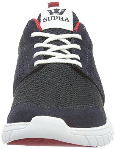 Supra Mens Scissor Navy Daim Chaussure Athlétique