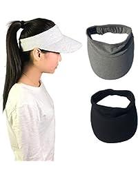 Elastic Sun Hat Visors Hat for Women Men in Outdoor Sports Jogging Running  Tennis 990cc4ad316