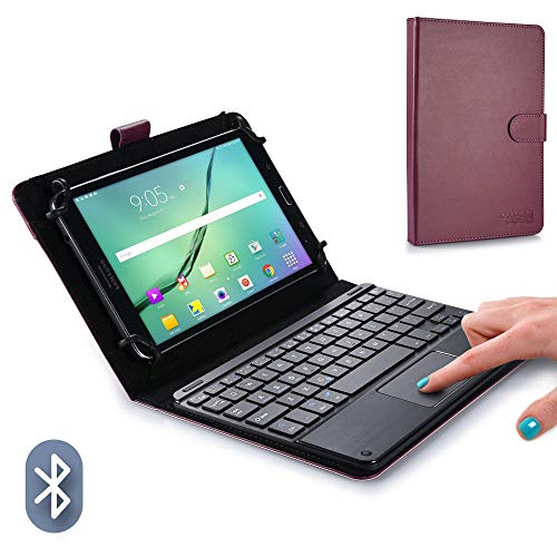 Cooper TOUCHPAD Executive Keyboard case Compatible with Lenovo A8-50, ThinkPad 8 | 2-in-1 Bluetooth Wireless Keyboard with Touchpad & Leather Folio Cover | Touchpad Mouse ()