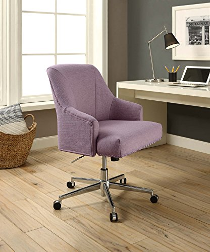 Serta Style Leighton Home Office Chair, Fresh Lilac Twill Fabric ()