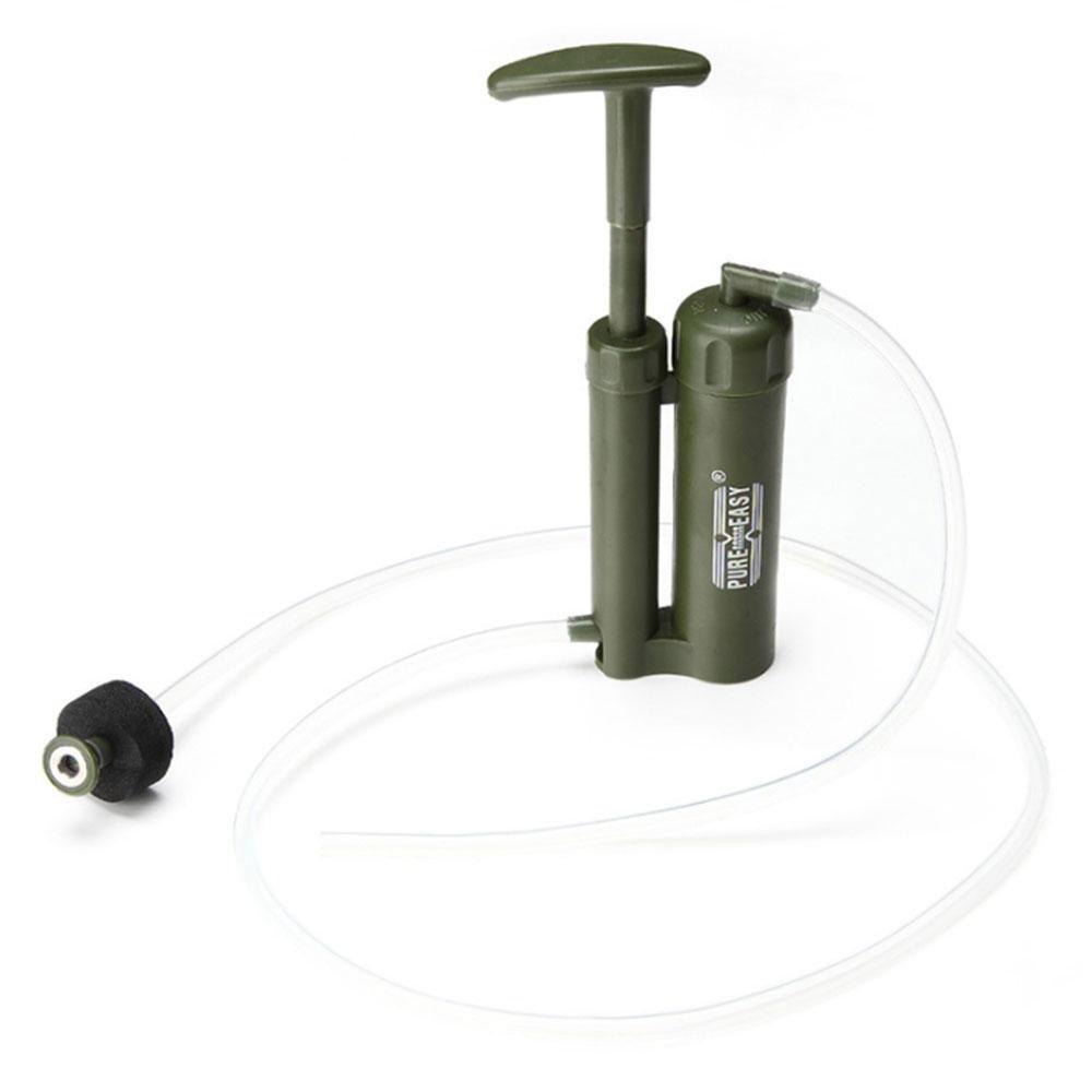 Pawaca - Purificador de agua para exteriores, mini virus portátil, purificación de agua de 2000 L para senderismo/camping/Climbing/emergencia/deportes al aire libre, paja de filtro de agua con purificador de 0,1 micras, sistema de filtración de agua