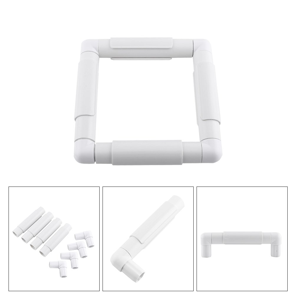 Cross-Stitch Quilting Universal Clip Frame Needlepoint Silk-Painting Square Plastic Embroidery Cross Stitch Frame for Embroidery 43.1/×43.1cm