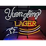 XINHANG 17 X 14 Inches Real Glass Neon Light Sign for Yuengling Lager America's Oldest Brewery Home Beer Bar Pub Recreation Room Game Room Windows Garage Wall Sign