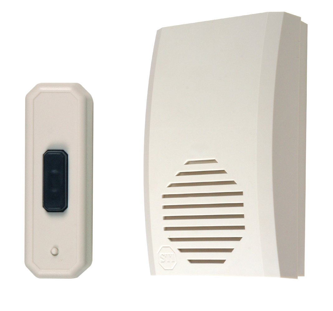 Safety Technology International Sti 32500 Wireless Chime Doorbell Electrical Wiring For Button Musical Entrance Alert Announces Guests Or Customers Push Buttons