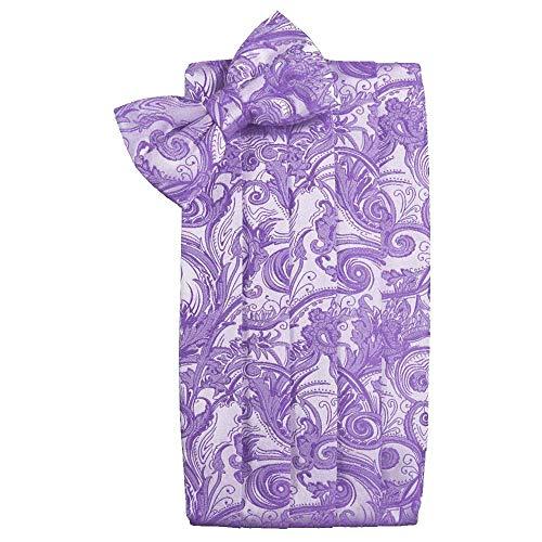 (Men's Tapestry Cummerbund & Bow Tie Set - Many Colors (Wisteria))