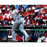 Hanley Ramirez Autographed Boston Red Sox Throwing Bat After Hit 8 Inches by 10 inches Photo Lojo Sports Authenitcated