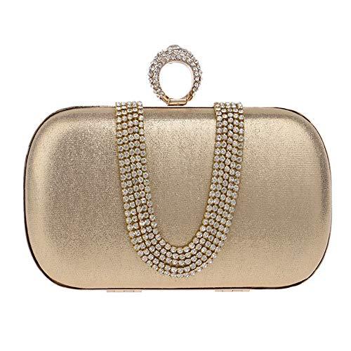 Sac Gold Main Fête Mariage Bourse à Sac pour Bal Bandouliere Femme Soirée Maquillage Chaîne Clutch Pochette prqfpwZ