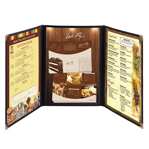 Yescom 30 Pack Triple Fold Menu Covers 8.5