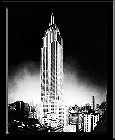 New York City Empire State Building (NYC) Decorative Photography Framed Postcard Poster Print 8x10 - Empire State Building Photographs