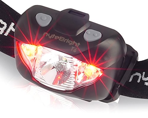 LED Headlamp Flashlight with Red Light – Brightest Headlight for Camping Hiking Running Backpacking Hunting Walking Reading - Waterproof Headlamps - Best Work Head Lamp Light with FREE Batteries! by nyteBright (Image #7)