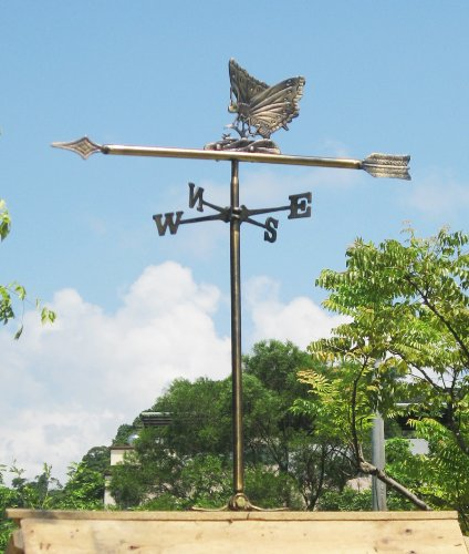 Brass Butterfly Weather Vane for Roof