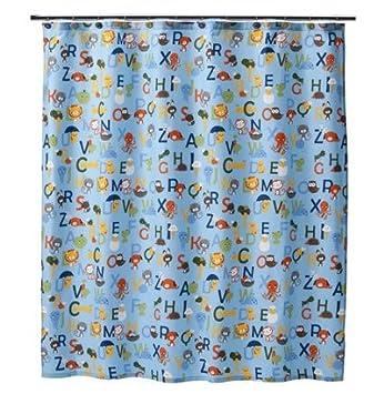 Amazon.com: Circo® ABC Alphabet Collection Fabric Shower Curtain ...