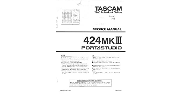 TEAC - TASCAM 424MKIII SERVICE MANUAL: TEAC: Amazon com: Books