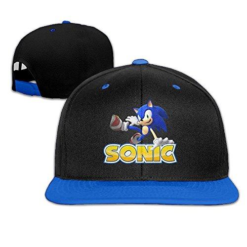 IGiGT Sonic The Hedgehog Unisex Adult Hip-Hop Snapback Hats RoyalBlue (Adult Hedgehog)