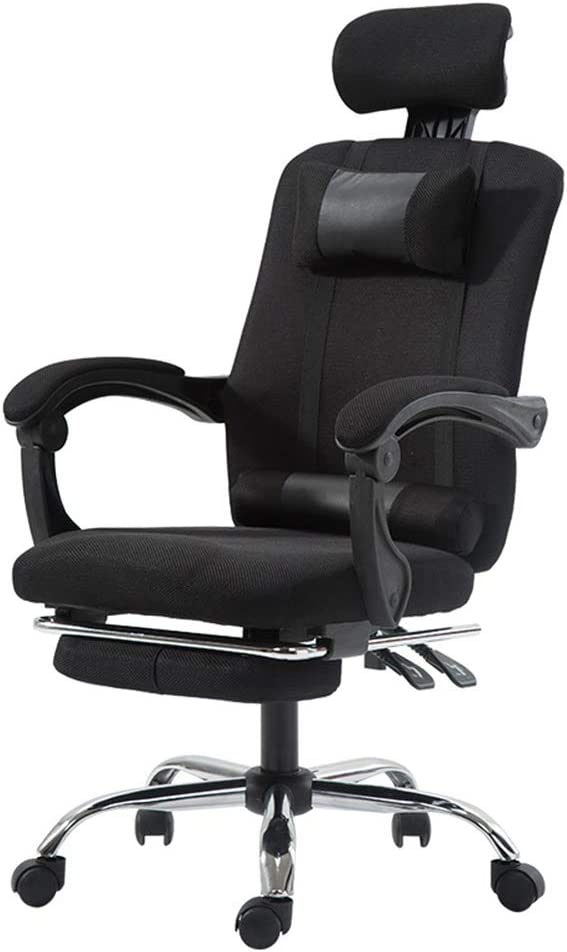 SHANG Ergonomic Executive Office Chair, Headrest High Back Rotating Chair Adjustable Height High-Back Reclining Chair with Padded Armrest and Footrest