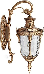 Codlyn 1-Lights Exterior Wall Lantern Simple European Villa Outdoor Waterproof Wall Sconce Lights Down Aluminum Home Outside Wall Lamp Classic Art Entrance Park Wall Hanging Fixtures with E27 Fitting