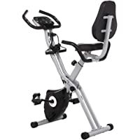 Profun Bicicleta Estática Plegable de Fitness con Respaldo Xbike con App Pantalla LCD 10-Niveles Ajustable para…