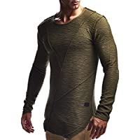 Leif Nelson Men's Oversized Long Sleeve T-Shirt Sweatshirt LN6323