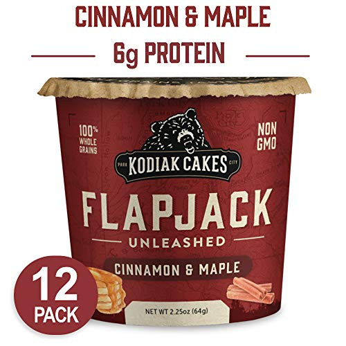 Kodiak Cakes Pancake On the Go High Protein Snack, Cinnamon and Maple, 2.25 Ounce (Pack of 12) (Packaging May ()