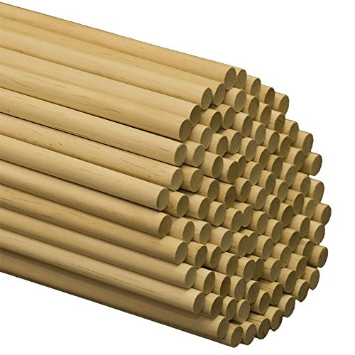 Wooden Dowel Rods - 1/2 x 60 Inch Unfinished Hardwood Sticks - for Crafts and DIY'ers - 25 Pieces by Woodpeckers (60 Dowel Rods)
