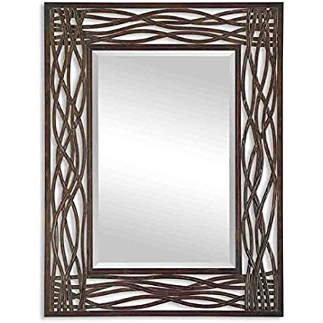 Uttermost Dorigrass Mirror 0 5 X 32 X 42 Mocha Brown