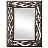 Uttermost Dorigrass Mirror 0.5 x 32 x 42'', Mocha Brown