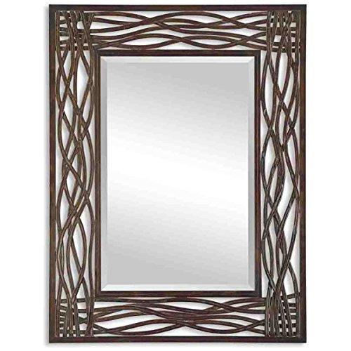 Uttermost Dorigrass Mirror 0.5 x 32 x 42'', Mocha Brown by Uttermost