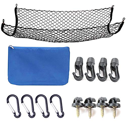 - Cargo Net for SUV,Truck Bed or Trunk, 41 x 25 Inches Elastic Nylon Mesh Universal Rear Car Organizer Net, with Bonus Free Hooks by SNBLO