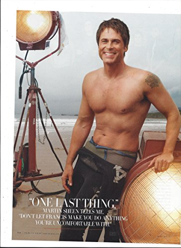 Original 2011 Magazine Photo With Rob Lowe On Beach In - Sale Wetsuits