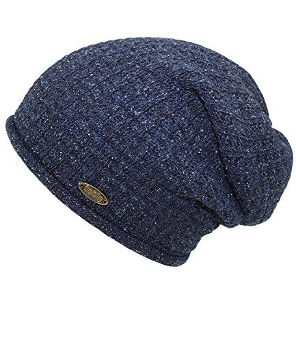 EveryHead Tapa Punto Sombrero Con incl 45226 Hutfibel Jeans W17 HE0 FI Seda Hombres De Mezcla Marca La Los Fiebig Gorro Invierno Azules Para E0YwY