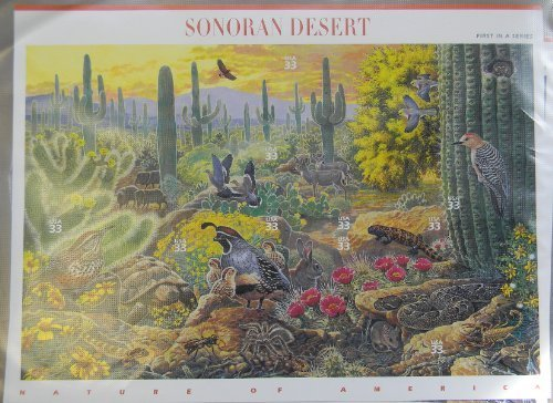 Postage Stamp US Scott 3293 Sonoran Desert Full Sheet of Ten 33 Cent Stamps by USPS (Postal Us Cover)