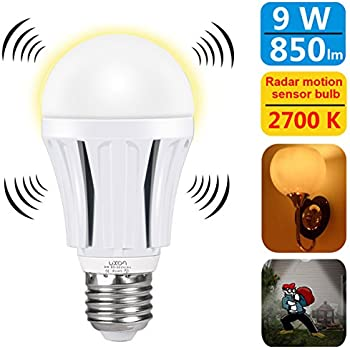 Luxon motion sensor light bulb 9w smart bulb radar dusk to dawn led compare with similar items workwithnaturefo