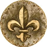 Thirstystone TS2141 Absorbent Drink Coasters with Holder, Fleur de Lis