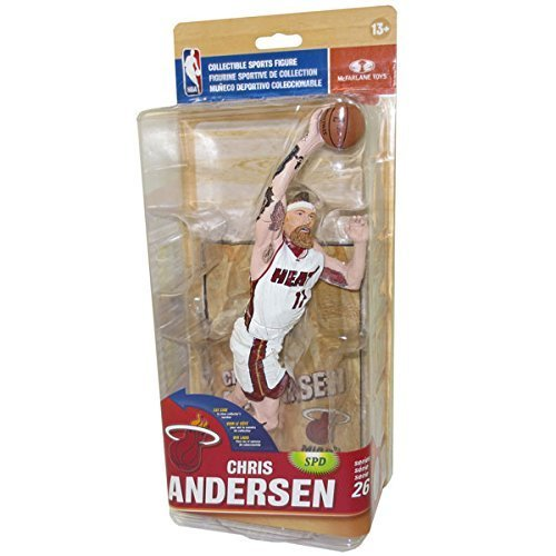 McFarlane Toys NBA Series 26 Chris Andersen Action Figure (White Jersey - Silver Collector Level) by ADVENTURER'S BAG