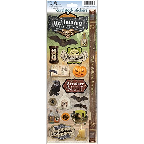 Paper House Productions STCX-0206E Halloween Hauntings Cardstock Stickers, 5