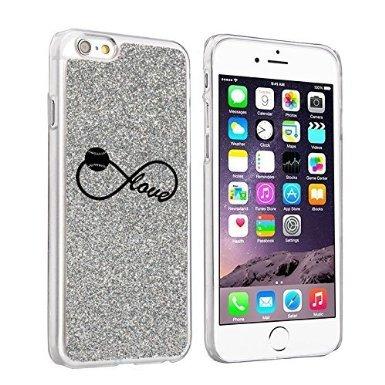 Softball Glitter (Apple iPhone 6 Plus / 6s Plus Sparkle Glitter Bling Hard Back Case Cover Infinity Infinite Love for Baseball Softball (Silver))