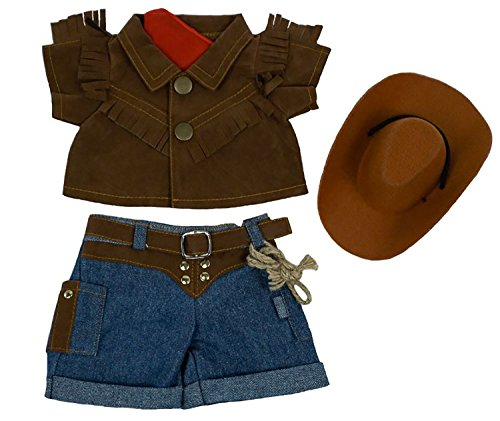 Cute Cowboy Outfit Teddy Bear Clothes 8 inch to 10 inch Build-a-Bear and Make Your Own Stuffed Animals -