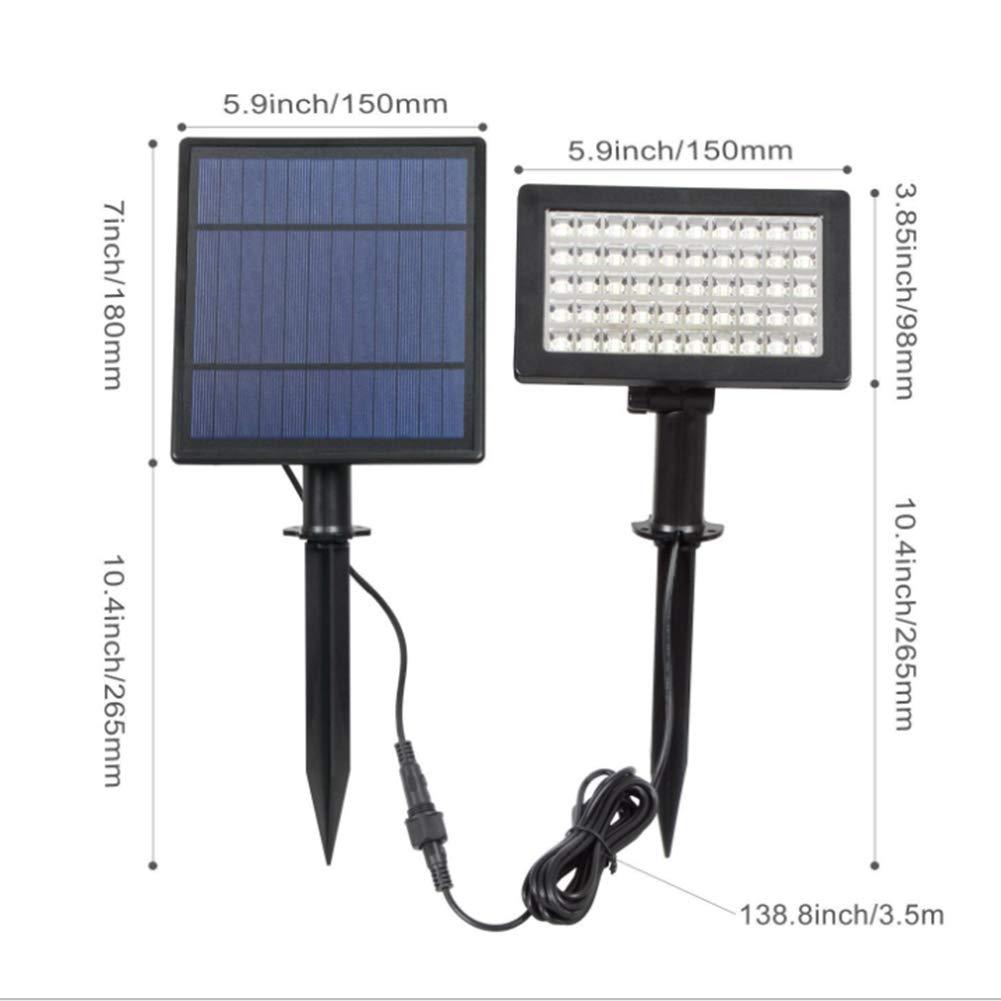YAOBAO Luces Solares, 2-En-1 Impermeable 50 LED Solar ...
