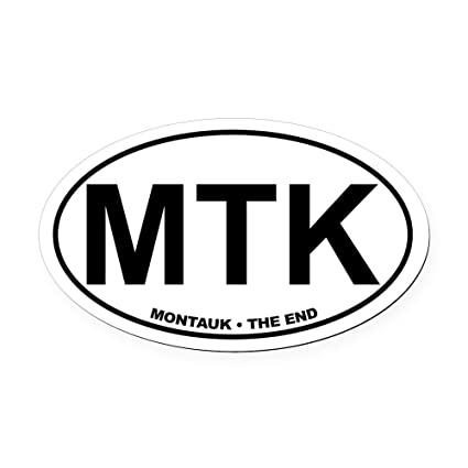 Cafepress montauk the end oval car magnet oval car magnet euro oval magnetic