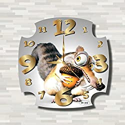 Ice Age - Scrat 11.8'' Handmade unique Wall Clock - Get unique décor for home or office – Best gift ideas for kids, friends, parents