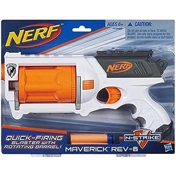 Nerf N-Strike Maverick Rev-6 White