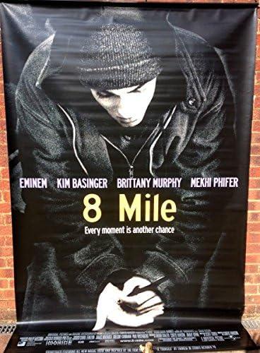 Cinema Banner 8 Mile 2002 Eminem Brittany Murphy Kim Basinger Mekhi Phifer B Amazon Co Uk Kitchen Home