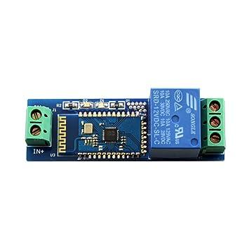 Rel/é Internet m/ódulo Bluetooth Inteligente Mando a Distancia Interruptor de tel/éfono m/óvil DC12 V Wireless Relay Module Component Module