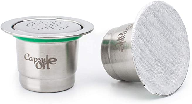 DECDEAL Cápsulas de café preenchíveis em aço inoxidável de dois usos Filtro de xícara de cápsula de café reutilizável compatível com máquina de café Nespresso: Amazon.com.br: Casa
