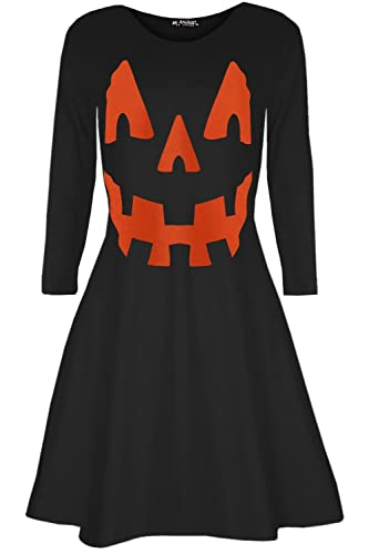 Oops OUTLET DONNA zucca costume HALLOWEEN GREMBIULE Party Svasato Mini Vestitino stile anni '50 - ZU...