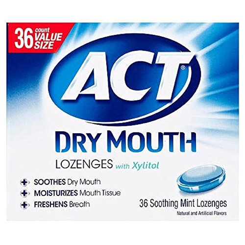 ACT Total Care Dry Mouth Lozenges Mint 36 Count Per Box (12 Pack) by CHATTEM LABORATORIES (Image #1)