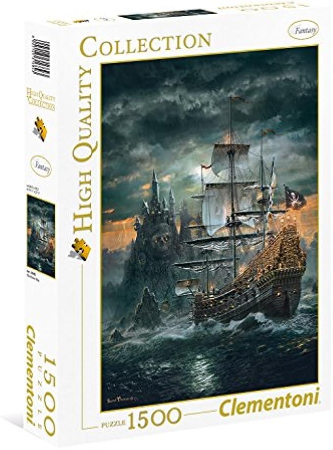 Clementoni 31682.3 Clementoni-31682 Collection-The Pirate Ship-1500 Pieces, Multi-Colour