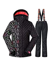 2017 Women Breathable Waterproof and Windproof Snowsuit Colorful Snowboard Ski Jacket
